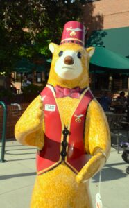 Fezzy the Oasis Shrine Bear by Kevin Burnzart benefits the area Shriners Hospital for Children. It is at Second Ave. East. Photo by Pete Zamplas.