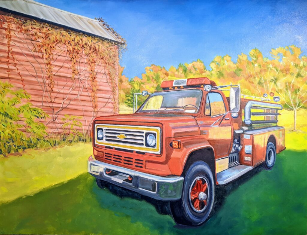 Fire Truck out to Pasture by Christine Enochs.