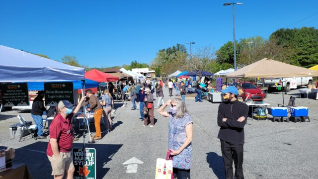 Saturday morning from 8:00 am to noon,  the Mills River  Farm Market, which was started in 2009,  has a wide assortment of produce from neighboring farms.  Photo courtesy of Mills River Farm Market.