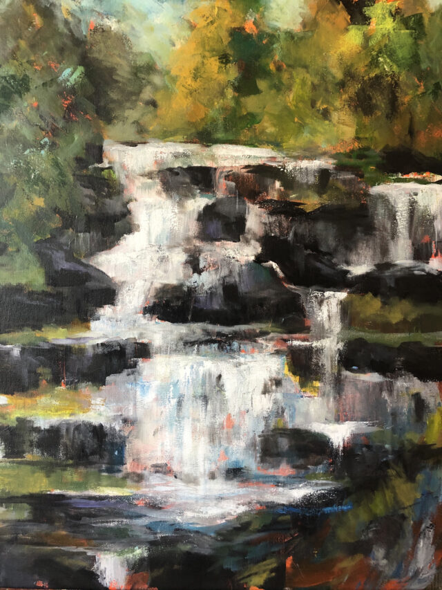 Brown, Chasing Waterfalls- A Place of Motion, Acryllc.